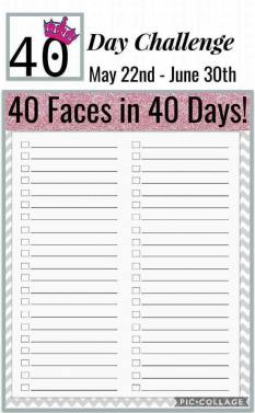 40 Faces in 40 Days Tracking Sheet