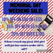 Memorial Day Weekend Sale pic