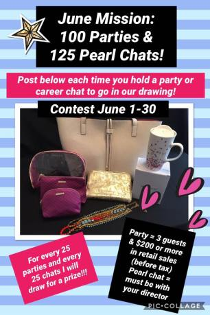 June 2017 - 100 Parties and 125 Pearl Chats contest