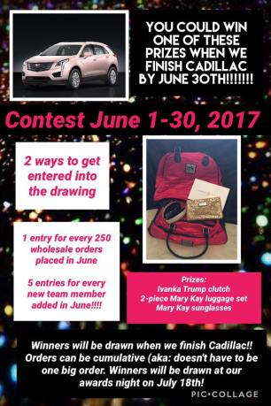June 2017 Cadillac Drawing contest